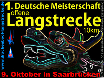 Flyer der 1. DM Drachenboot Langstrecke 2010